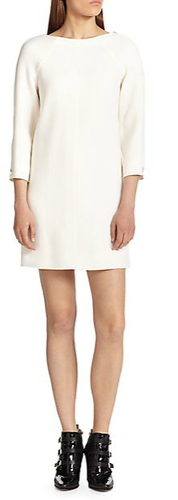 Courreges - Wool Crepe Zip-Sleeve Dress