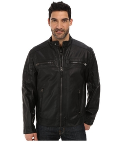 Calvin Klein - Faux Leather Four Pocket Moto Jacket