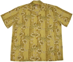 Paradise Found  - Hibiscus Bamboo Panel Shirt