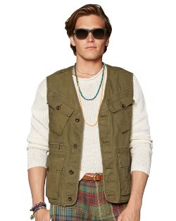 Ralph Lauren - Waxed Cotton Highland Vest
