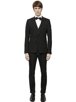 Dolce & Gabbana - Stretch Wool Gabardine 3 Piece Suit