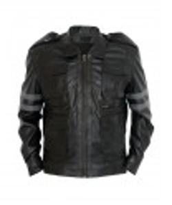 Desert Leather - Resident Evil 6 Leon Kennedy Black Leather Jacket