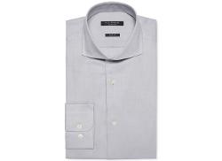 Isaac Mizrahi  - Slim-Fit Pique Dobby Solid Dress Shirt
