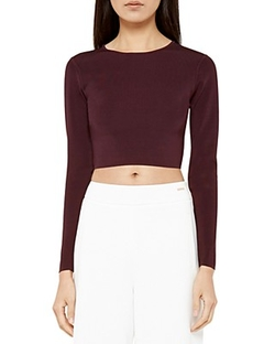 Ted Baker - Cailie Cropped Long Sleeve Sweater