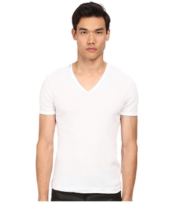 Dolce & Gabbana - Rib Cotton V-Neck T-Shirt