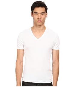 Dolce & Gabbana - Rib Cotton V-Neck T-Shirt