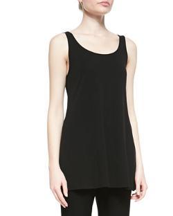 Eileen Fisher  - Long Silk Jersey Tunic Tank Top