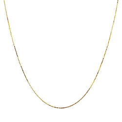 Target - Gold Box Chain Necklace