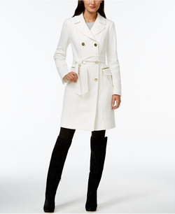 INC International Concepts - Double-Breasted Belted Coat