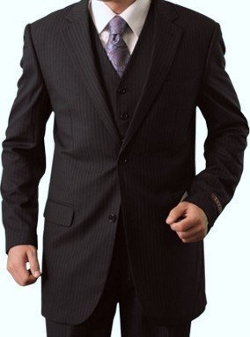 King Formal Wear - Three Piece Stripe Suit