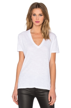 Monrow - Oversized V Neck Tee