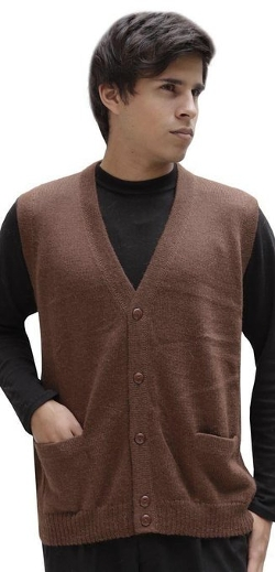 Alpaca Warehouse - Wool Knitted V-Neck Sweater
