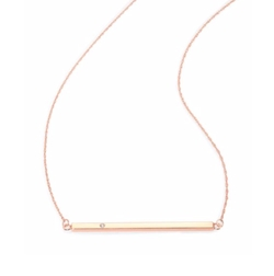 Jennifer Zeuner Jewelry - Chelsea Diamond Horizontal Bar Necklace