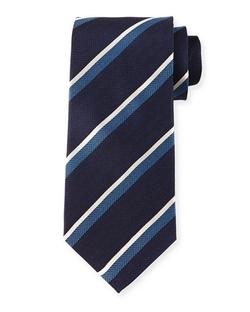 Giorgio Armani - Herringbone-Stripe Silk Tie