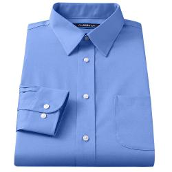 CROFT & BARROW - Fitted Solid Broadcloth Spread-Collar Dress Shirt