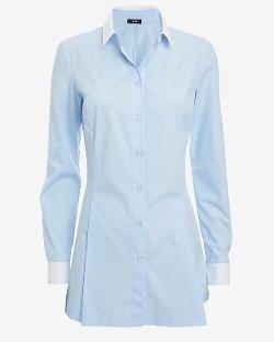 Ji Oh - Contrast Collar/Cuff Shirt