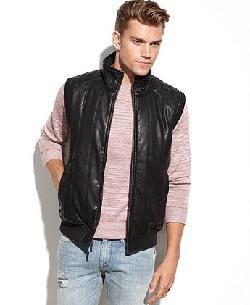 GUESS - Coat, Faux Leather Vest