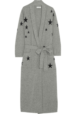 Chinti And Parker - Star-Intarsia Cashmere Robe