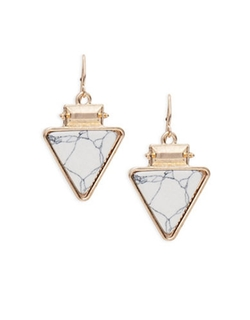 Robert Rose  - Marbled Triangle Drop Earrings