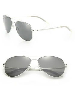 Oliver Peoples - Double-Bridge Aviator Sunglasses