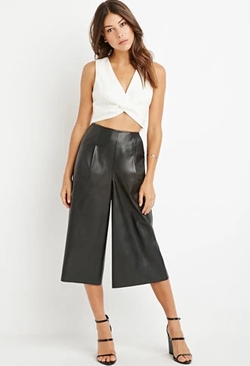 Forever 21 - Faux Leather Gauchos