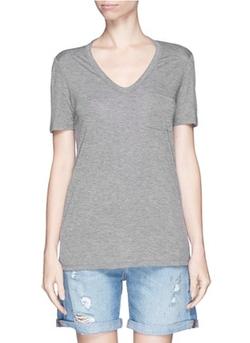 T by Alexander Wang  - Rayon Jersey T-Shirt