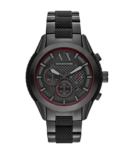 Armani Exchange - Stainless Steel Silicone Bracelet Watch