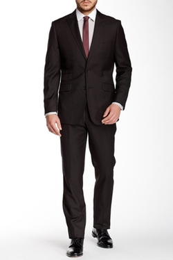 English Laundry - Solid Two Button Peak Lapel Suit