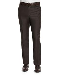 Zanella   - Parker Flat-Front Sharkskin Trousers