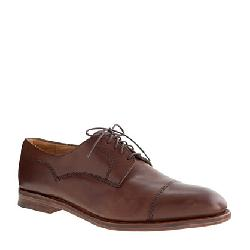 ALFRED SARGENT - CAP TOE BROGUES IN PONY BROWN LEATHER
