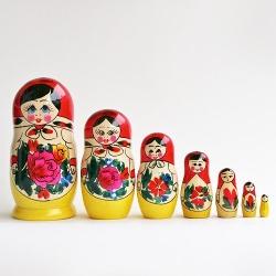 Russouvenir - Semenov Wooden Russian Nesting Dolls Matryoshka