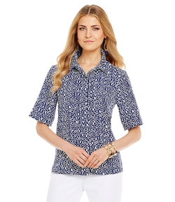 Investments - Printed Hi-Low Blouse