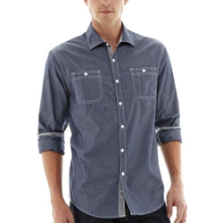 Michael Brandon - Long-Sleeve Chambray Shirt