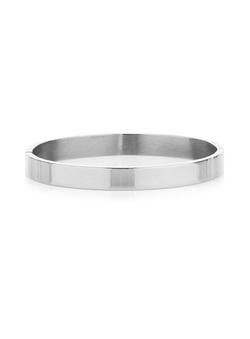 Topman - Stainless Steel Simple Bangle Bracelet