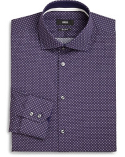 Hugo Boss - Regular-Fit Micro Dot Dress Shirt
