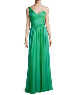 La Femme - Ruched One-Shoulder Gown