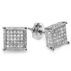 Dazzling Rock Collection - Hip Hop Iced Stud Earrings