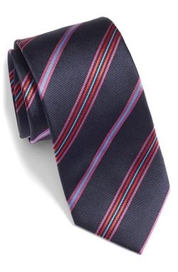 Bugatchi - Stripe Silk Tie