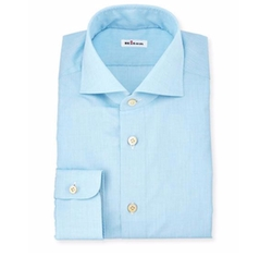 Kiton - Basic Solid Poplin Dress Shirt