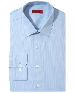 Alfani Red - Fitted Textured Solid Dress Shirt