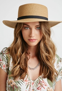 Forever21 - Straw Boater Hat