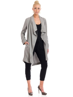 BB Dakota - Ragni Tencel Drape Front Coat