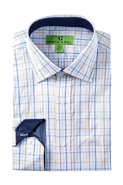 Bristol & Bull - Pin Check Trim Multi Graph Regular Fit Dress Shirt