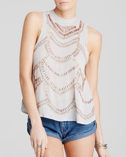Free People - Ferris Wheel Embellished Top