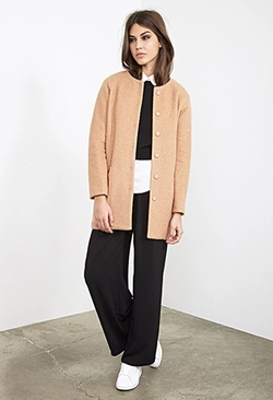 Forever 21 - Collarless Bouclé Coat