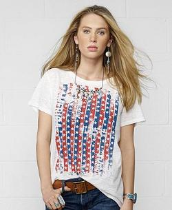 Denim & Supply Ralph Lauren  - Flag-Graphic Slouchy Tee