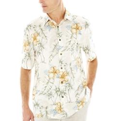Island Shores - Short-Sleeve Printed Rayon Shirt