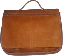 David King - Expandable Leather Briefcase