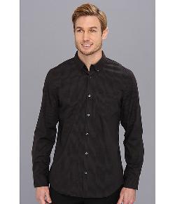 Calvin Klein  - L/S Yarn Dyed Check Plain Weave Button Down Shirt