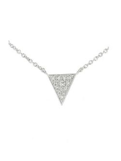 Finn - Single Pave Diamond Triangle Necklace